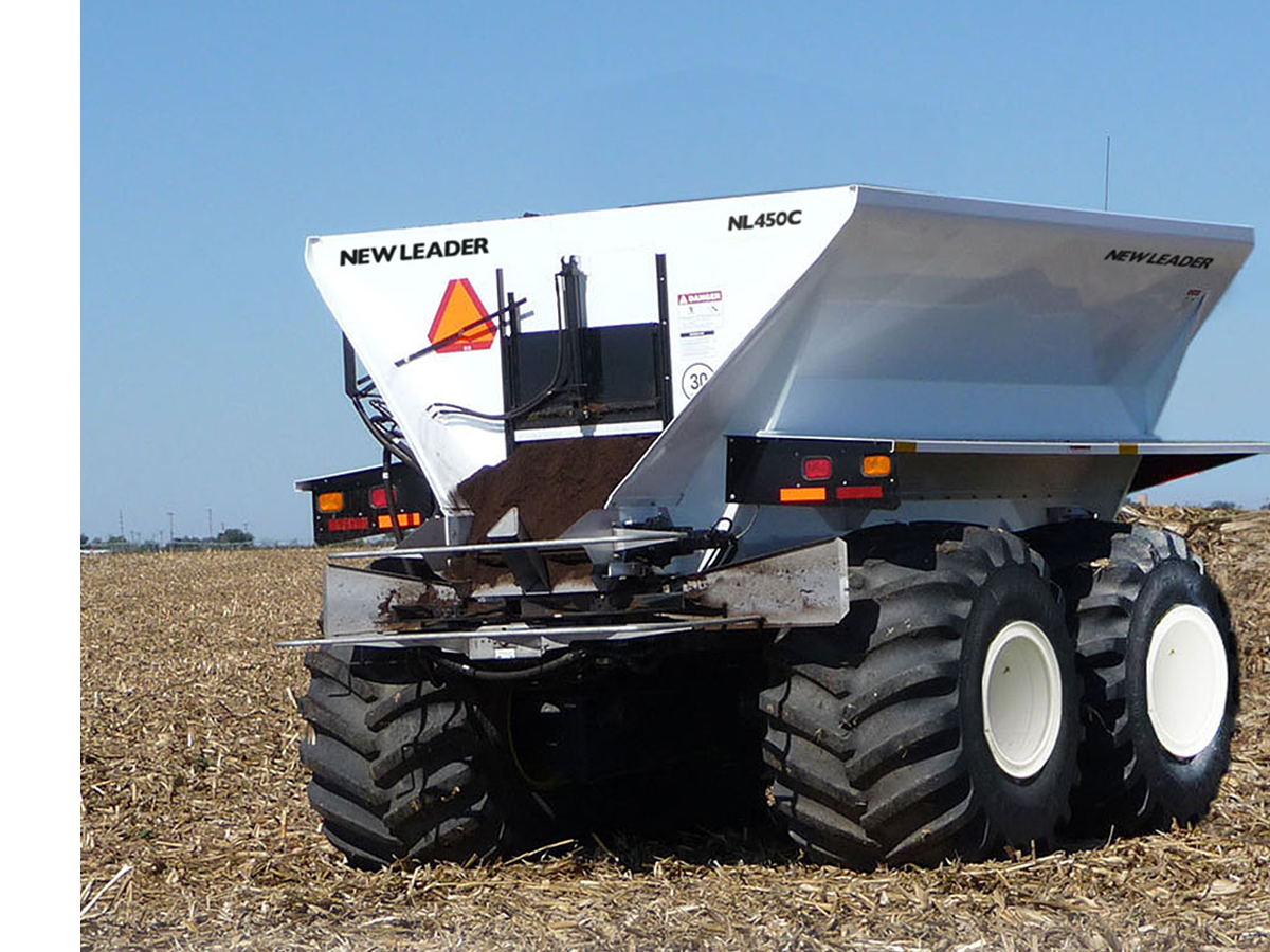 Pull Type Compost Spreader
